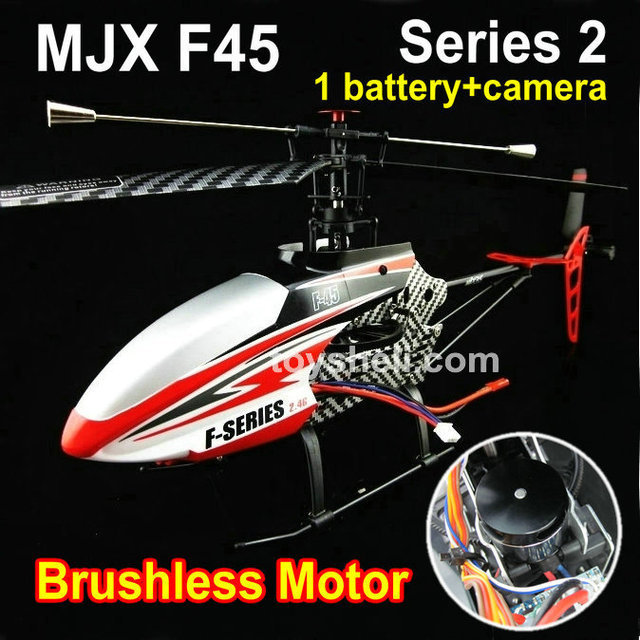 2.4G RC helicopter with gyro F45 F645 70cm single blade helicopter with powerful BRUSHLESS MOTOR