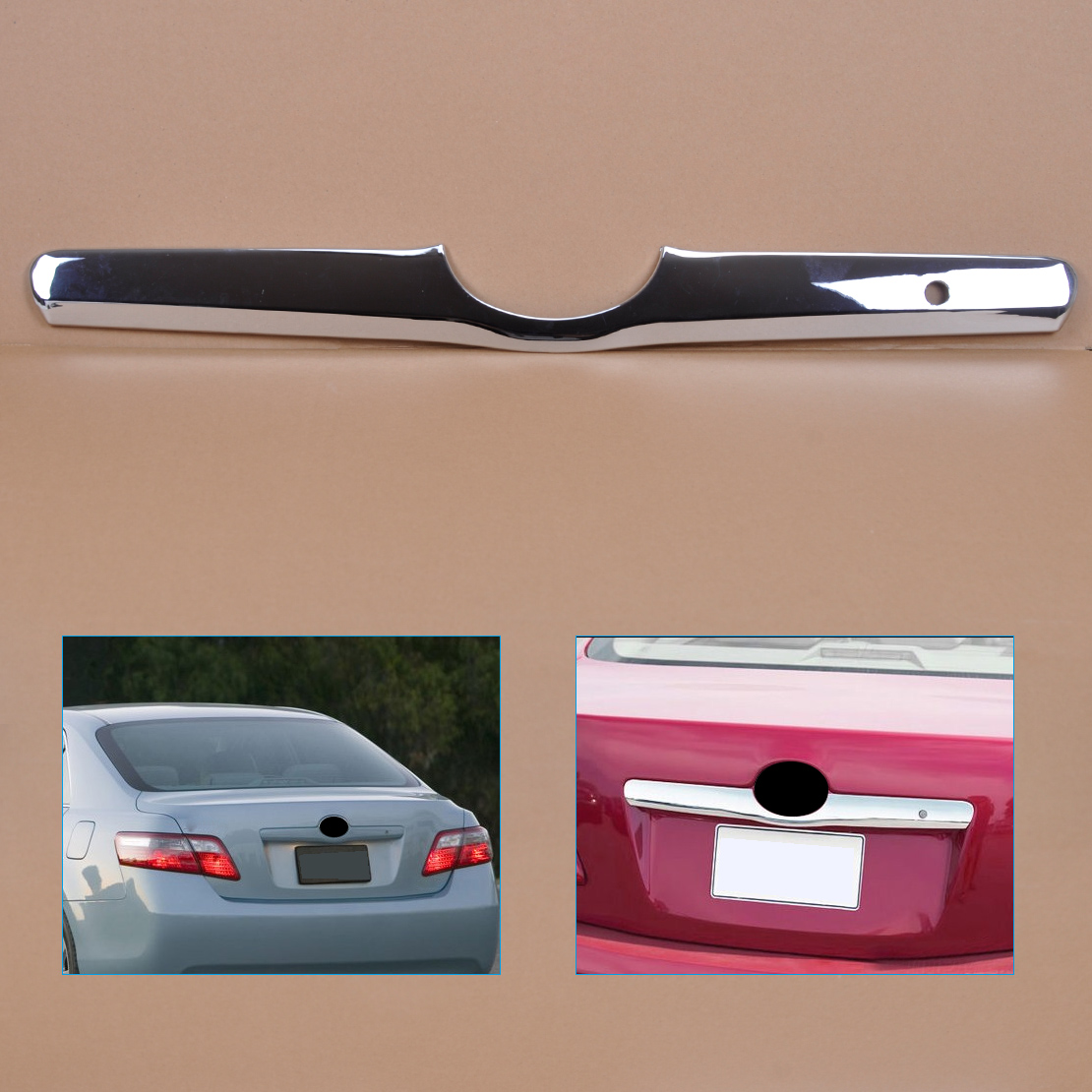 DWCX Car Chrome Decorative Rear Door Tailgate Trunk Hatch Trim Bezel Cover Fit for Toyota Camry 2006 2007 2008 2009 2010 2011 цена
