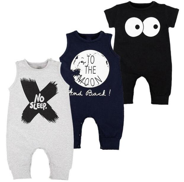 NewBorn Baby Rompers Summer Sleeveless Roupas Infantis Menino High Quality Cotton Fashion Cool Baby Boy Clothes 4 COlors 0-2T ...