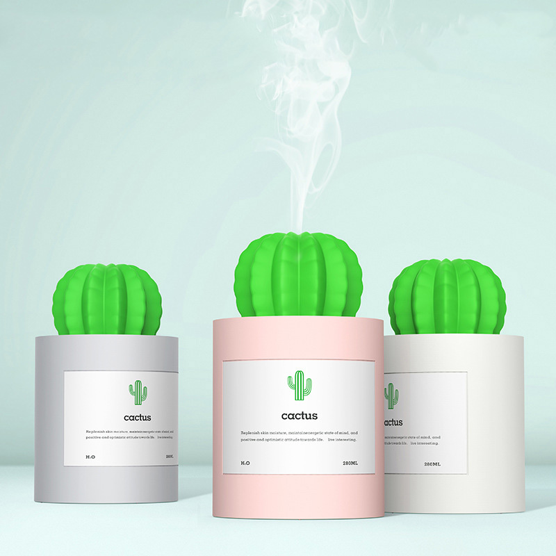 Mini USB Air Humidifier Mute Office Table Gift Creative Prickly Pear