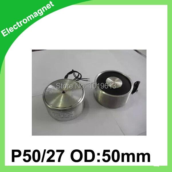 50mm OD Magnet Holding Electromagnet Lift 50Kg Solenoid Electric Lifting DC12V/24V