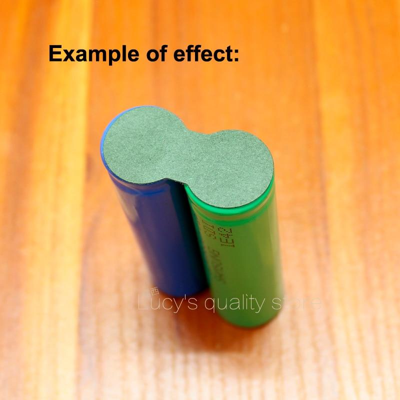 Купить с кэшбэком 100pcs/lot 18650 Lithium Battery Solid Insulation Pad 2S Barley Paper Mesh Pad Green Casing Paper Insulation Pad
