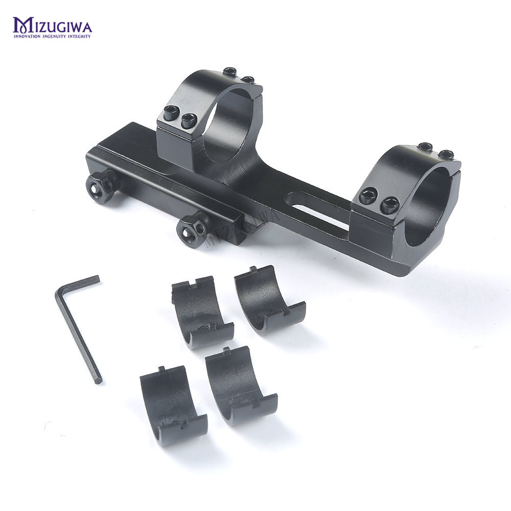 """Tactical 1/"""" Flat Top Cantilever Rifle Scope Mount for Picatinny Rail Heavy Duty."""