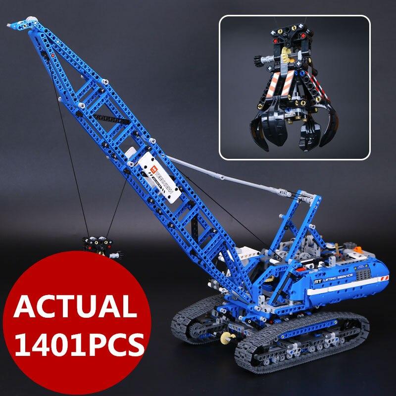LEPIN 20010 1401Pcs Technic Series Crawler Crane Model Building Kits Blocks Bricks Children Toys Gifts with 42042 ювелирное изделие 20010
