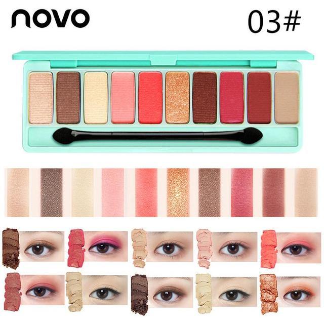 10 Colors Palette Matte Nude Glitter Eye Shadow