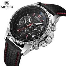 MEGIR montre bracelet de Sport, étanche, à Quartz, marque de luxe, militaire, pour hommes, collection 1010