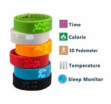 W2 светодиодный цифровой спорт usb наручные часы силиконовой лентой smart watch для детей женщины мужчины калорий 3d шагомер, лучший Рождественский Подарок