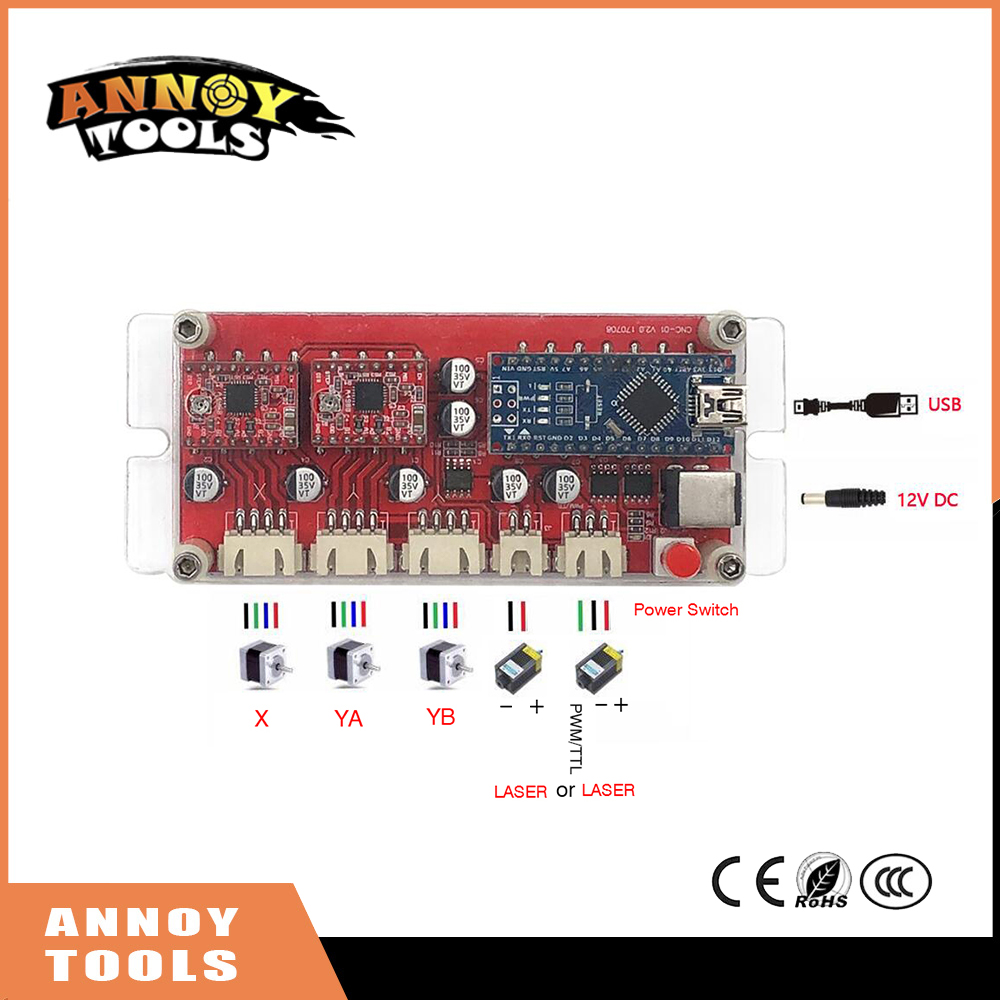 S1 USB CNC 2 Axis Stepper Motor Controller Board Mainboard DIY Laser Engraver Engraving Machine Motherboard