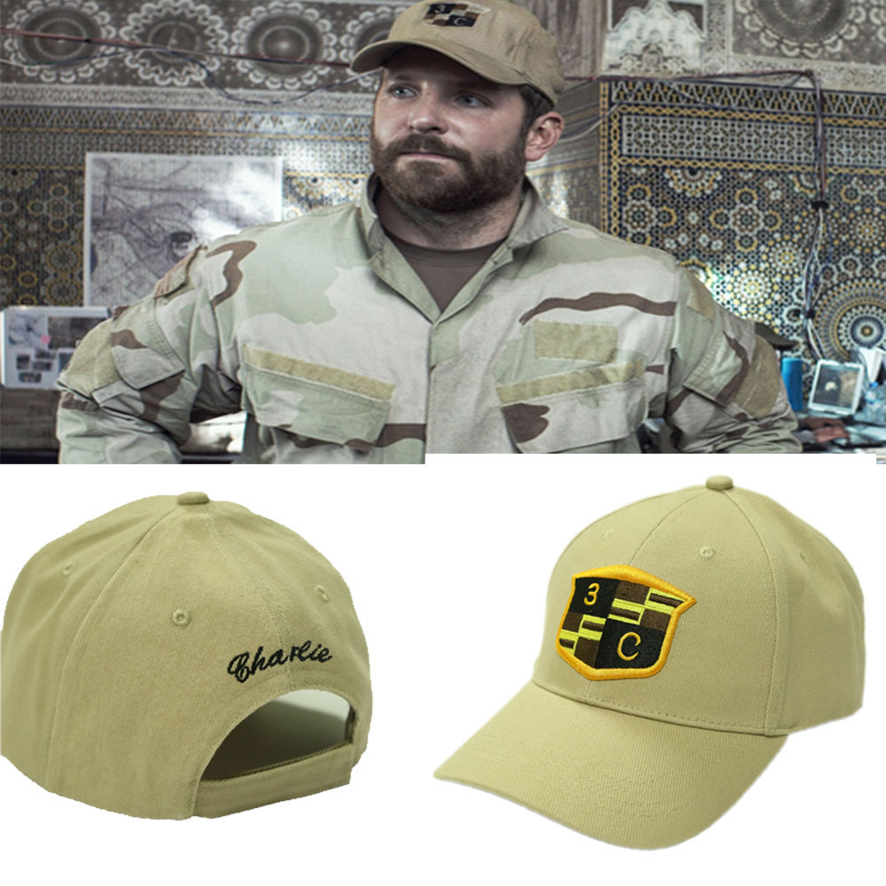 American Sniper Hat Seal Team 3 Platoon Charlie Navy Seal Baseball Cap Cosplay Costume Accessories Halloween Christmas Hats Gift