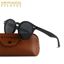 KEITHION Round Polarized Sunglasses Women Mens Vintage Retro Mirror Sun Glasses Fashion Driving Outdoor Eyewear