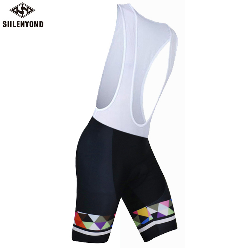 Siilenyond 100% Lycra Quick-Dry Cycling Shorts Bibs Bicycle Comfortable Gel 3D Coolmax Padded Bike Short Pants Ropa Ciclismo