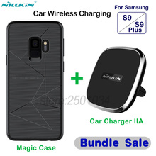 NILLKIN Car Magnetic Wireless Charger Pad Car Charger Phone Holder Magic Case for Samsung Galaxy S9