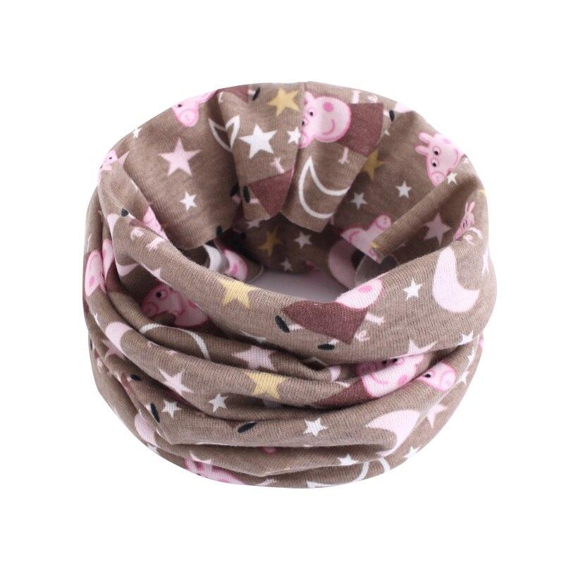 Детский хлопковый шейный шарф с милым принтом; детский теплый шарф; Детские воротники; осенне-зимний шарф-кольцо для мальчиков и девочек; аксессуары для детской одежды - Цвет: wb204