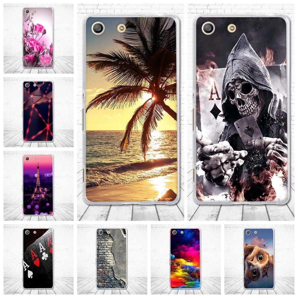 For Coque Sony Xperia M5 5.0'' Case Soft Silicon TPU Back Cover 3D Cute Capa For Sony Xperia M5 E5603 E5606 E5653 Phone Cases