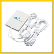 3g 4g Lte комнатная антенна 2 * SMA male/2 * CRC9/2 * TS9 Разъем Booster MIMO панельная антенна + 2 м кабель