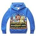 T-shirt Cinco Noites no Freddys esporte Dos Miúdos das crianças Meninos roupas de bebê roupas de manga Longa Outono estilo Dos Desenhos Animados Hoodies 2016 nova
