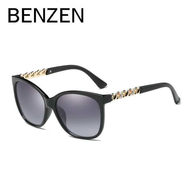 48c78cb32f BENZEN Luxury Rhinestones Polarized Sunglasses Women Designer Classic Sun  Glasses For Female Ladies Shades Eyewear With Box 6378