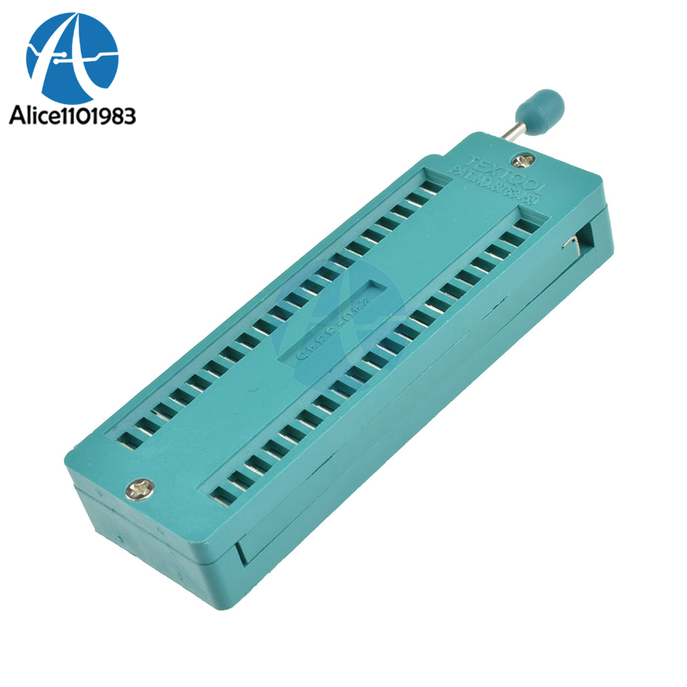 Green 28 Pin Ic Universal Zif Socket Test Tester 03 Narrow Body Atmel Usb Programmer Circuit Usbasp Atmega8 2 40p Locking Integrated 40 Seat Zip