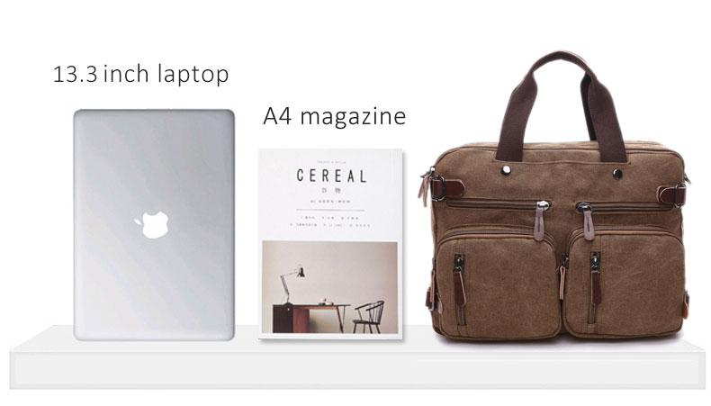 HTB1XQghKbSYBuNjSspfq6AZCpXaz Scione Men Canvas Bag Leather Briefcase Travel Suitcase Messenger Shoulder Tote Back Handbag Large Casual Business Laptop Pocket
