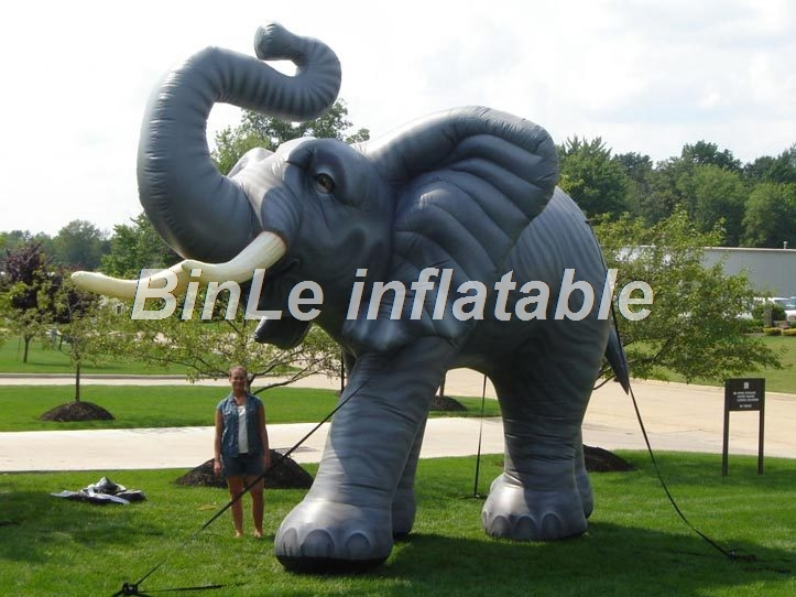 Custom made Africa grey large inflatable elephant model high quality animal cold air balloon for advertisingCustom made Africa grey large inflatable elephant model high quality animal cold air balloon for advertising