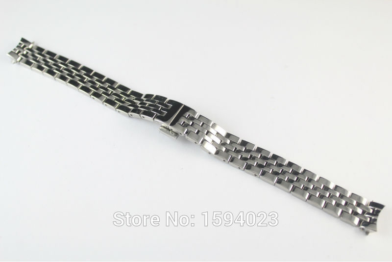 12mm Watch Parts force Locke T41 Female models strip Solid 1853 Stainless steel bracelet strap L234 L134/234
