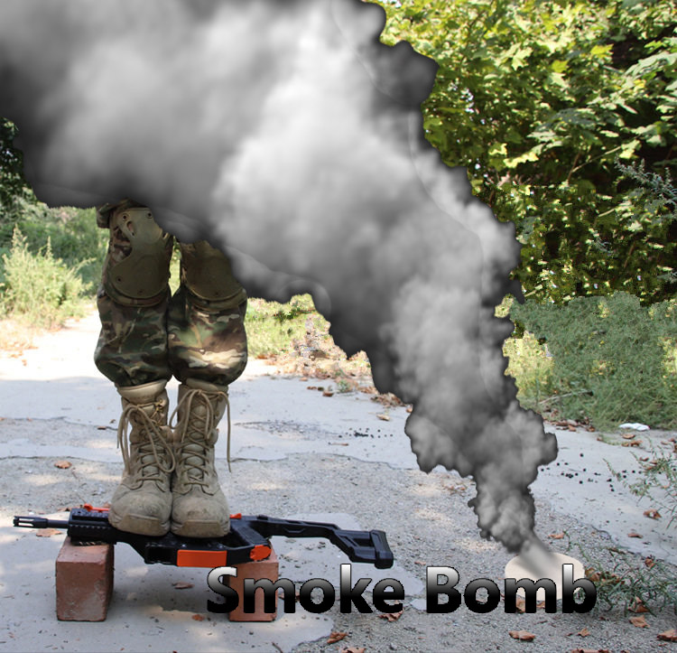 Smoke Bomb For Kriss Vector V2 M4A1-J9 JM P90 Water Gel Gun Electronic Nylon Material Toys For Children