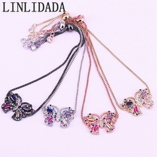 8Pcs New Fashion Colorful CZ Cubic Zirconia Micro Pave Butterfly Bracelet Female Party Jewelry