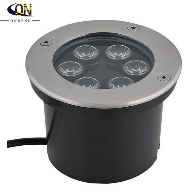 Free Shipping 6w Led Underground Light Round Rgb Outdoor Landscape Super Bright
