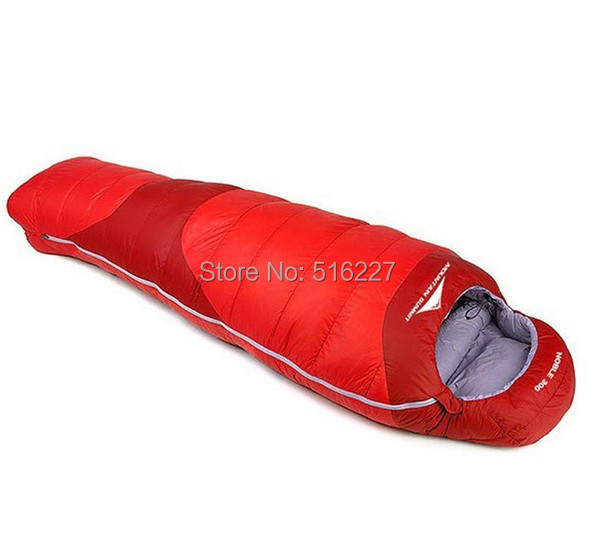 High Quality Spring/autumn/winter Camping Hiking Outdoor Sleeping Bags mummy  cotton splicing double sleeping bag