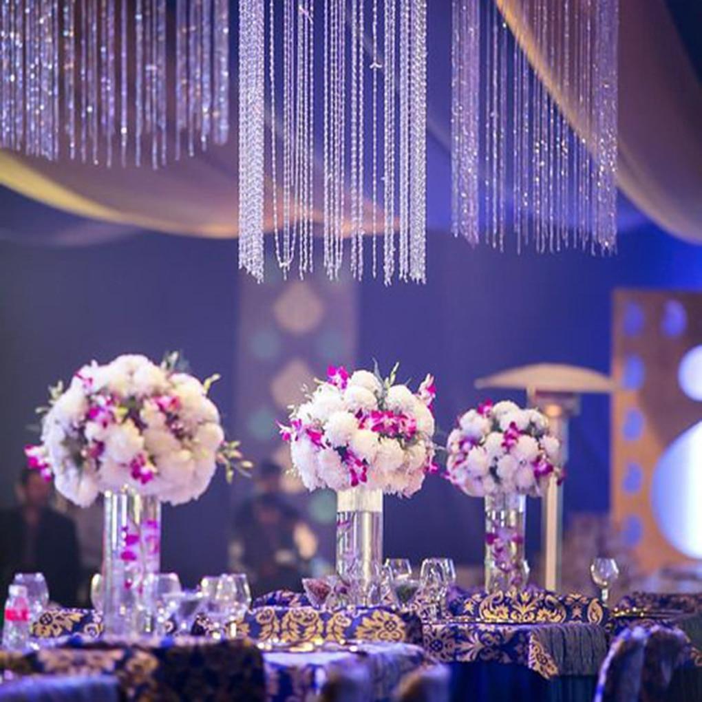 14mm Crystal Clear Acrylic Octagonal Bead Hanging Diy Wedding Decor