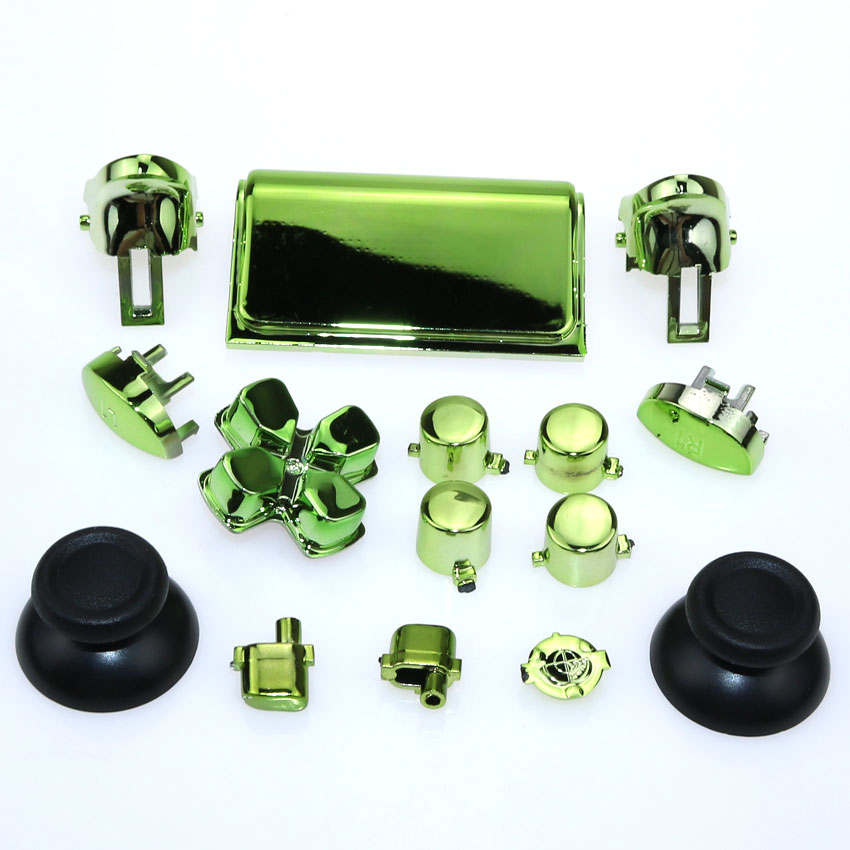 ChengHaoRan 8 colors 1set Chrome Dpad R1 R2 L1 L2 Buttons For Sony Dualshock 4 Pro Slim Wireless Controller JDS 040 New Version in Replacement Parts Accessories from Consumer Electronics