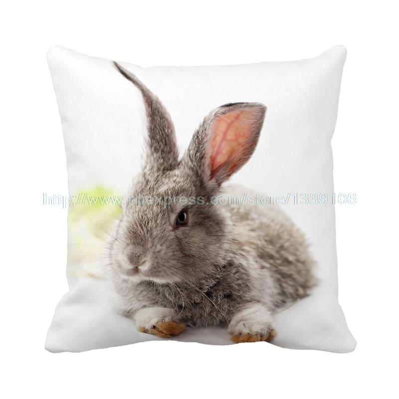New life cute rabbit printed white celebrate Easter luxury cushion home decor almofada decorative pillow sofa bed filling cotton