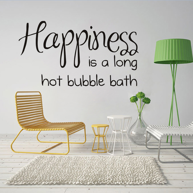 dctop happiness is a long hot bubble bath characters wall deacl black modern bathroom mirror toilet