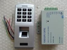 F3 Autonome 500 utilisateurs Étanche full metal d'empreintes digitales clavier mot de passe code lecteur serrure de porte de contrôle d'accès avec alimentation