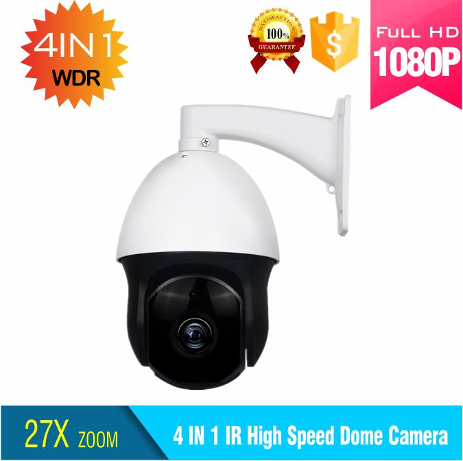 low price 2MP AHD CVI TVI CVBS 27x zoom high speed dome camera 1080P AHD output