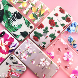 EKONEDA Silicone Case For iPhone 7 Case iPhone 7 Plus Leaves Flower Flamingo Lips Cover For iPhone7 Plus 8 XS Max XR 6s 5S Case 4