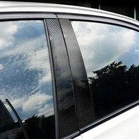 Carbon Fiber Auto Window B Pillars Sticker Car Styling For BMW New 5 Series F10 2011 2017 Car Window B Pillars Stickers