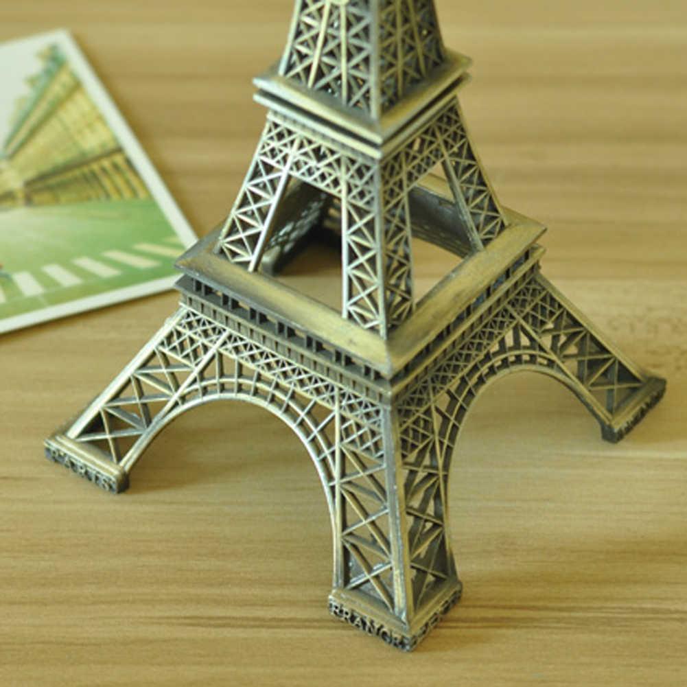 1Pc Creative Gifts 5-15cm Metal Art Crafts Paris  Model Figurine Zinc Alloy Statue Travel Souvenirs Home Decorations