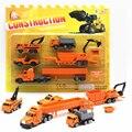 5 unids/set mini funde coches carro de la ingeniería de aleación modelo de vehículo de construcción de plástico modelo de coche clásico dinky toys para niños de regalos boy