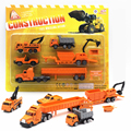 5pcs/set Mini Diecasts Car alloy Construction Vehicle Plastic Engineering Car Truck  Model Classic Dinky Toys For Boy kids Gift