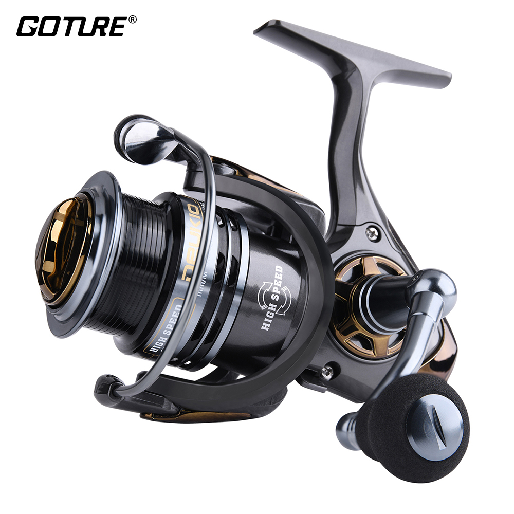Goture High Speed Metal Fishing Reel Ultral Light Spinning Reel 5+1BB 8kg Max Drag For Freshwater and Saltwater Fishing