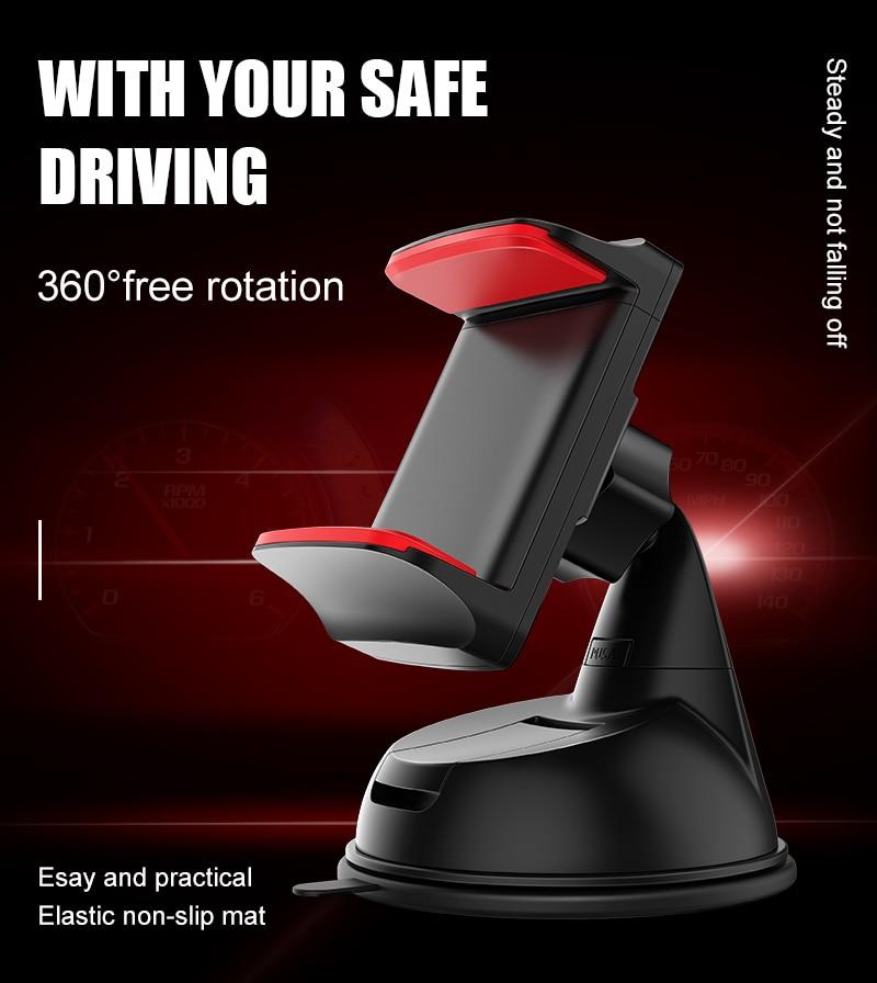 Artisome Car Phone Holder Universal Windshield Sucktion Mobile Phone Holder Stand 360 Degree Rotatable Car Mount Holder (1)