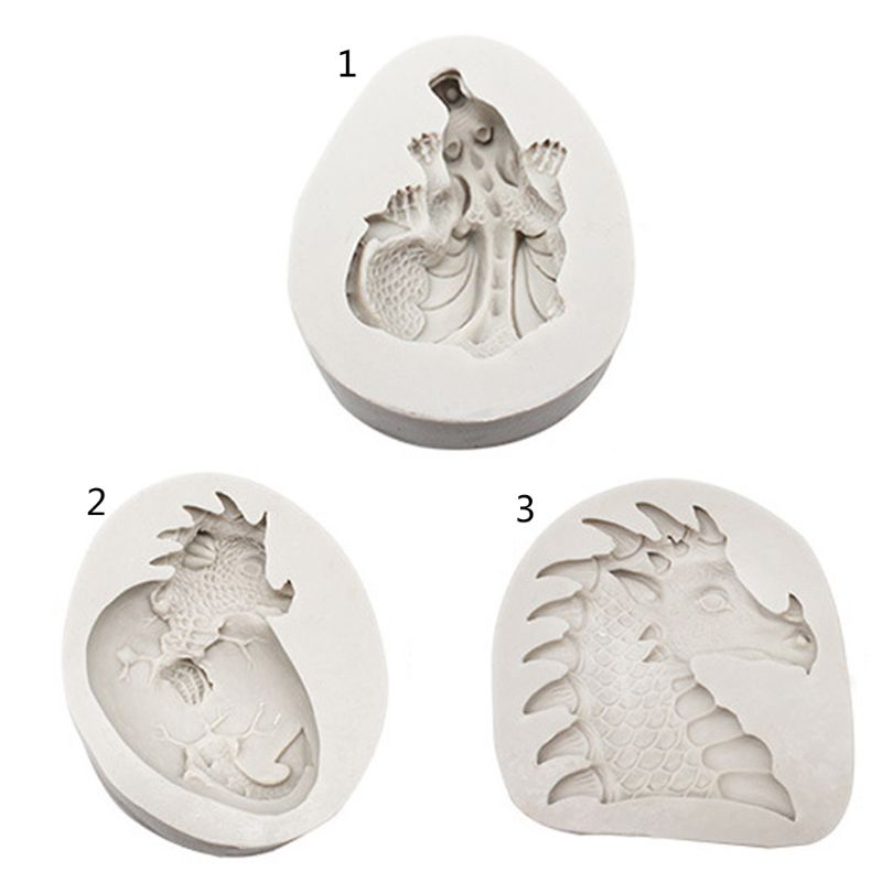 1  PC  Easter Dinosaurs Egg Fondant Silicone Mold DIY Bake Chocolate Resin Jewelry Mold