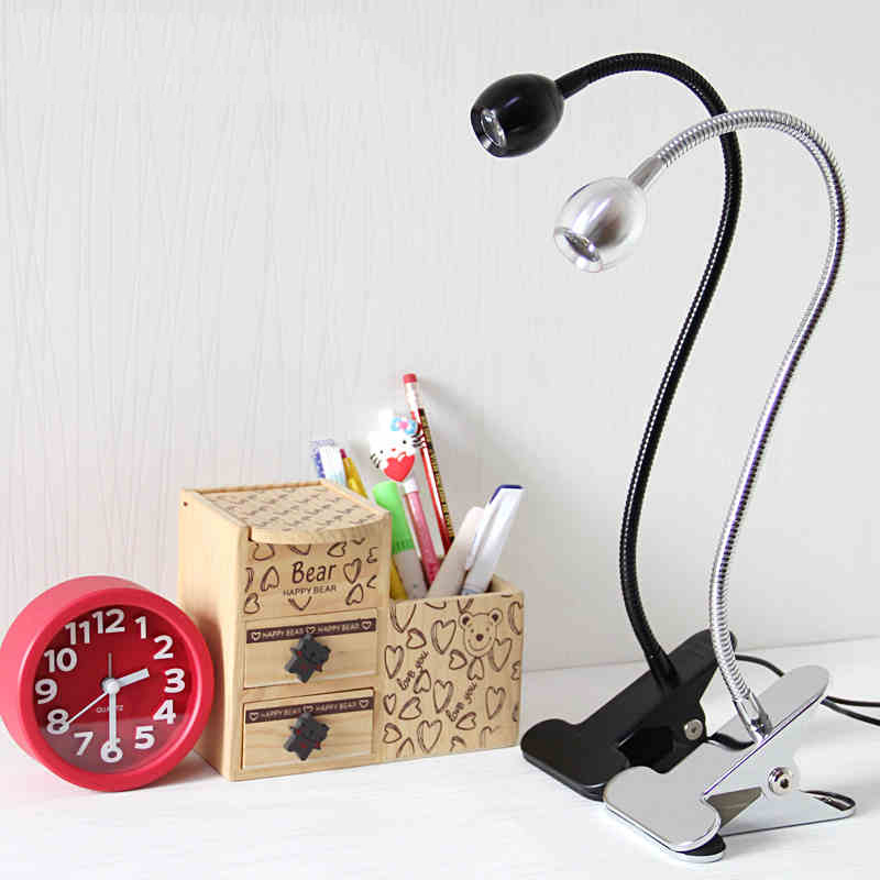 TRANSCTEGO LED Clip Lamp Desk Light dormitory bedroom bedside ...