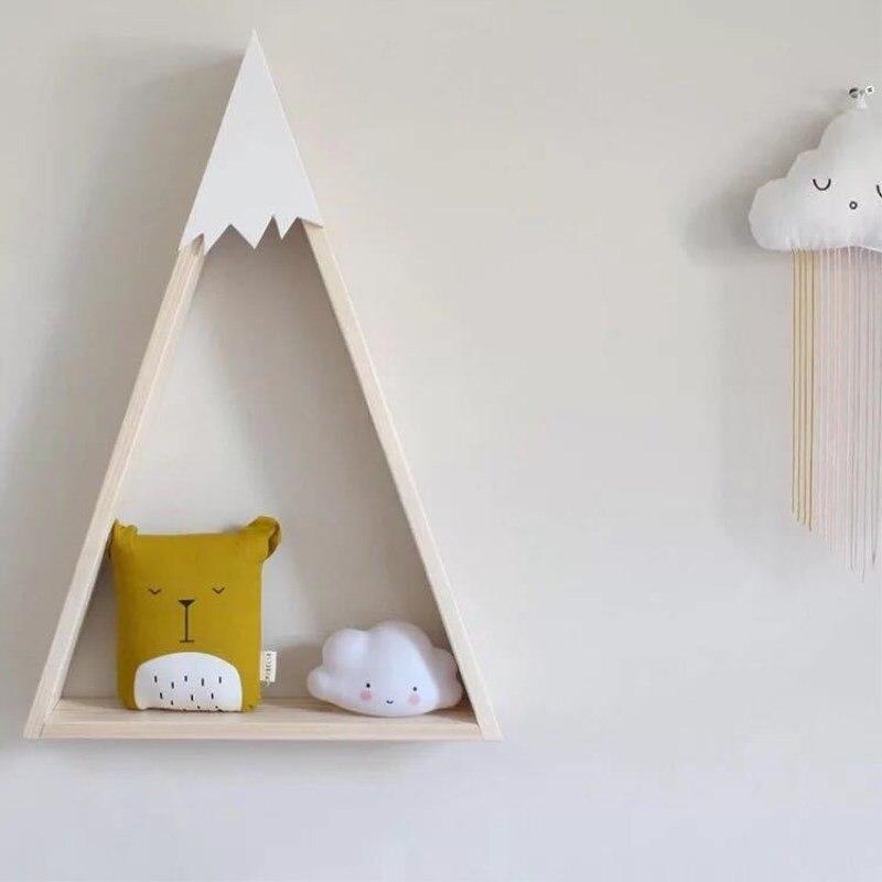 Kinderkamer Decoratie Muur.Goede Kopen Ins Nordic Stijl Hout Sneeuw Berg Opslag Plank