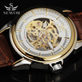 SEWOR 2016 New Luxury Casual Clock Men Mechanical Automatic Watch Skeleton Business Watches Relogio Male Montre Mens Relojes