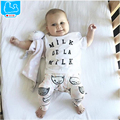 Summer Style Baby Clothing Sets Girl Clothes Set Kids Boy Clothes 2pcs Cotton Short Sleeve T-Shirt+Pants Newborn Toddler Costume