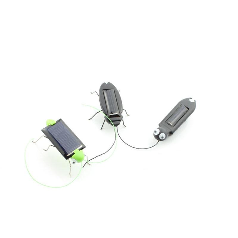 3pcs 키트 과학 키즈 태양 에너지 패널 전원 바퀴벌레 로봇 자동차 버그 장비 흔들리는 교육 장난감 아기 어린이 흔들기
