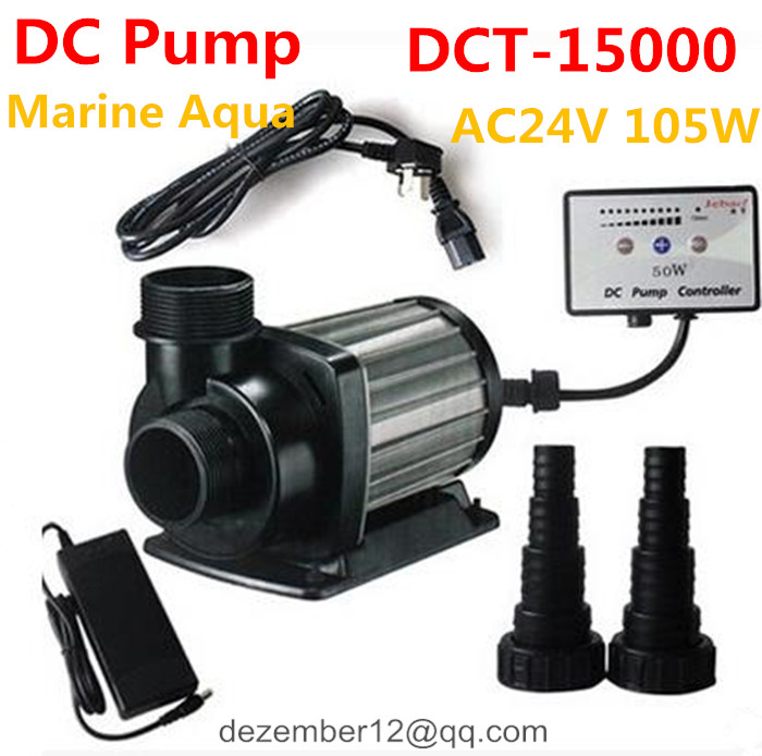 Jebao DC24V 105W 15000L/H Variable Flow DC Aquarium Submersible Pump10 Speeds Freshwater Marine DC Pump w/ Controller