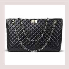 Aminou 2018 Luxury Handbags Women Bags Designer Chain Crossbody Bag Large Ladies Plaid Messenger Shoulder Bag Black Big Bolsos